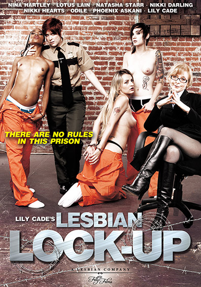 Lily Cade's Lesbian Lock-Up DVD front cover