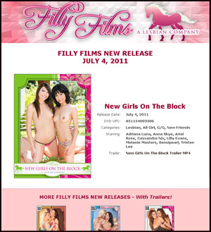 Filly Films July 4 2011 New Release Newsletter