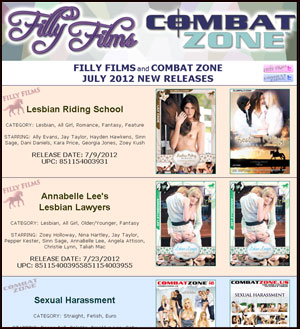 Filly Films July 2012 New Releases