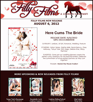 Filly Films presents Here Cums The Bride