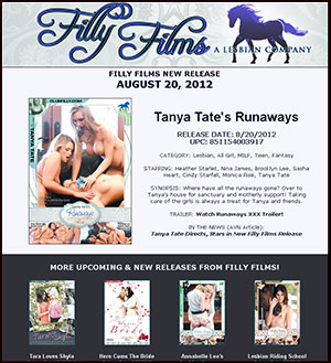 Filly Films presents Tanya Tates Runaways