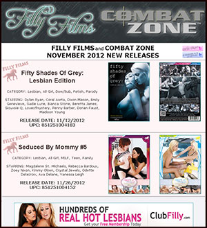 Filly Films November 2012 New Releases