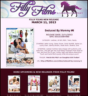 Filly Films presents Seduced By Mommy #6