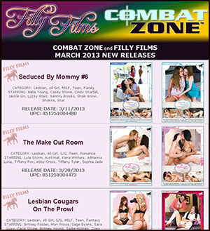 Filly Films March 2013 New Releases