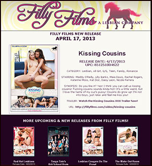 Filly Films presents Kissing Cousins