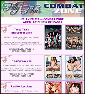 Filly Films April 2013 New Releases