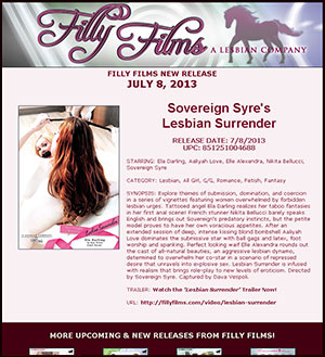 Filly Films presents Sovereign Syre's Lesbian Surrender