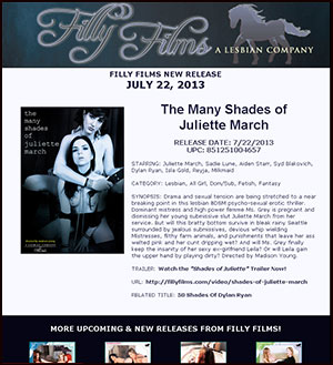 Filly Films presents The Many Shades of Juliette March