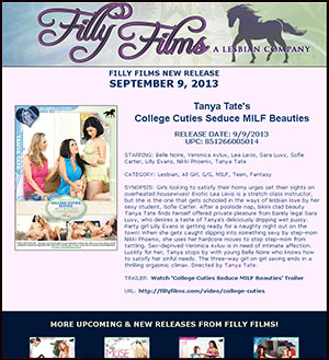 Filly Films presents College Cuties Seduce MILF Beauties