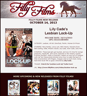 Filly Films presents Lily Cade's Lesbian Lock-Up