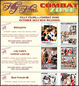 Filly Films October 2013 New Releases