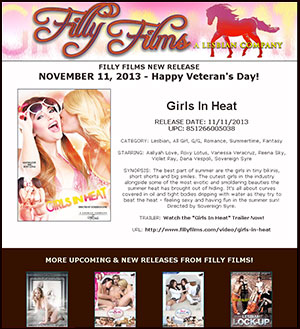 Filly Films presents Girls In Heat