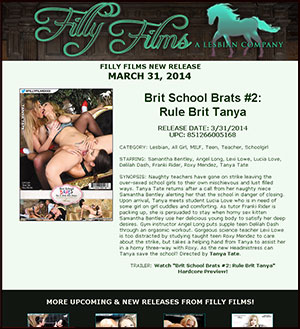 Filly Films Presents Brit School Brats #2: Rule Brit Tanya