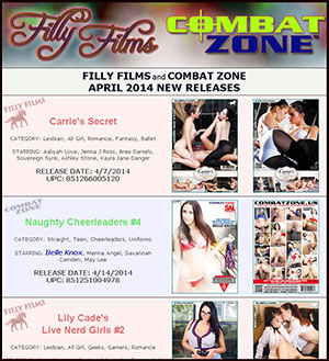 Filly Films April 2014 New Releases