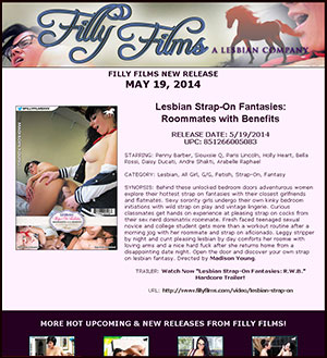Filly Films presents Lesbian Strap-On Fantasies