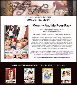 Filly Films presents Mommy And Me 4 Pack