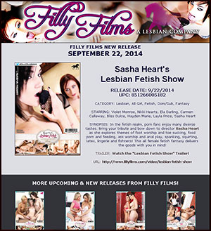 Filly Films presents Lesbian Fetish Show
