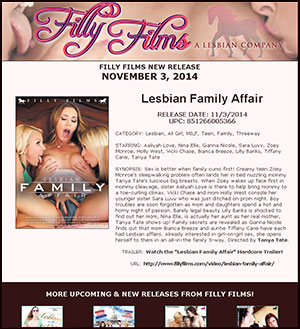 Filly Films presents Lesbian Family Affair