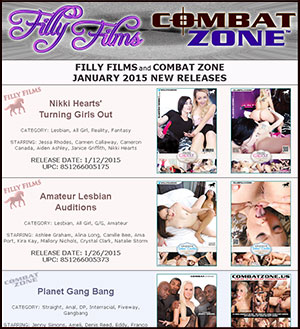 Filly Films & Combat Zone January 2015 New Releases