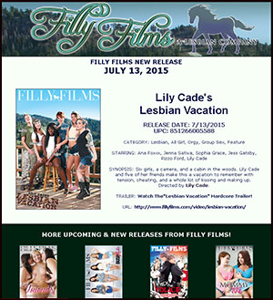 Filly Films presents Lesbian Vacation