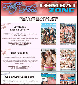 Filly Films July 2015 New Releases