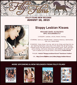 Filly Films presents Sloppy Lesbian Kisses