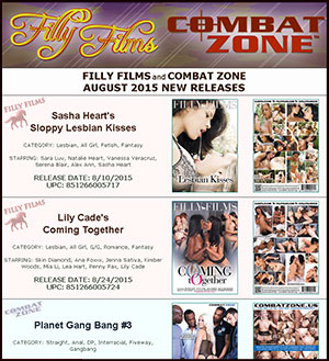 Filly Films August 2015 New Releases