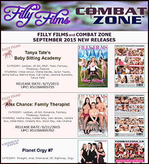 Filly Films September 2015 New Releases