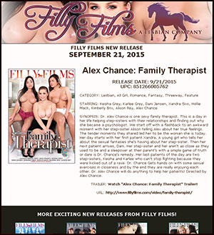 Filly Films presents Alex Chance: Family Therapist