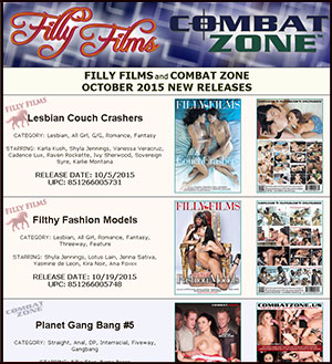 Filly Films October 2015 New Releases