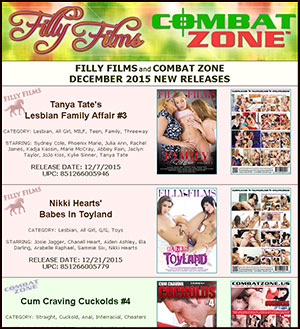 Filly Films December 2015 New Releases