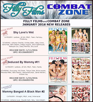 Filly Films January 2016 New Releases