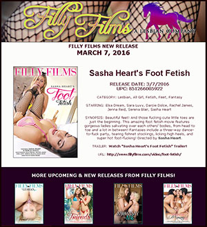 Filly Films presents Sasha Heart's Foot Fetish