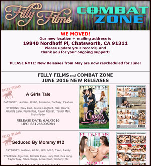 Filly Films June 2016 New Releases