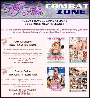 Filly Films July 2016 New Releases
