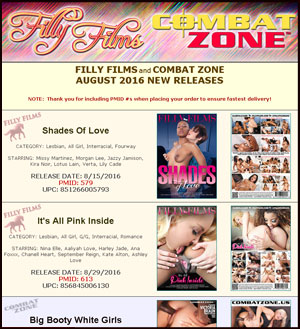 Filly Films August 2016 New Releases