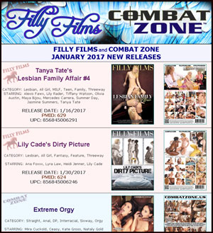 Filly Films January 2017 New Releases