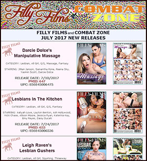 Filly Films July 2017 New Releases